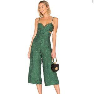 x REVOLVE Joelle Jumpsuit in Emerald Green